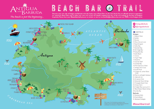 Antigua and Barbuda Beach Bar Trail – Rum Therapy on a map of estonia, a map of st.thomas, a map of moldova, a map of san juan puerto rico, a map of tuvalu, a map of nevis, a map of galapagos, a map of the leeward islands, a map of vanuatu, a map of st. lucia, a map of andorra, a map of santo domingo, a map of french polynesia, a map of windward islands, a map of anguilla, a map of los cabos, a map of st vincent, a map of seychelles, a map of kazakhstan, a map of jersey,
